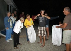 Prepaing To Lite Our Sky Lanterns