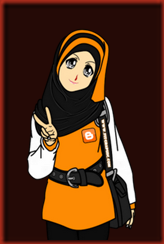 muslimah doodle & cartoon cute oren