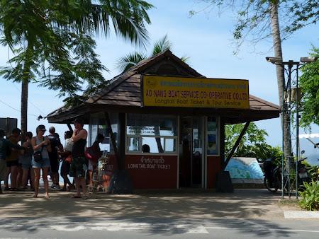 Transport Thailanda: Ao Nang statia de barci spre Railay