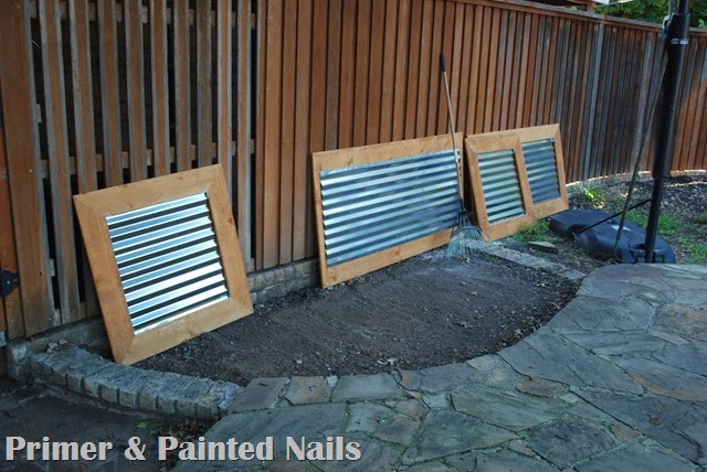 Assembled Planter Sides - Primer & Painted Nails