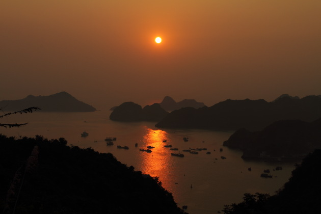 Sunset over Halong Bay, Vietnam