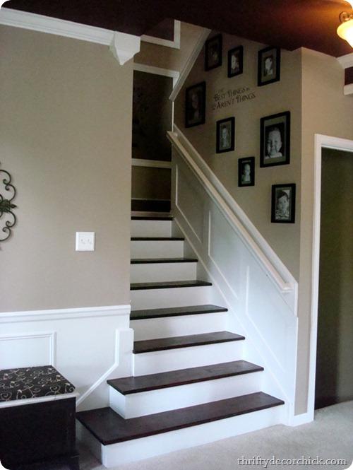dark treads light risers stairs