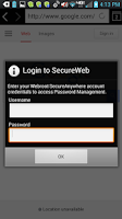 Screenshot of SecureWeb Browser