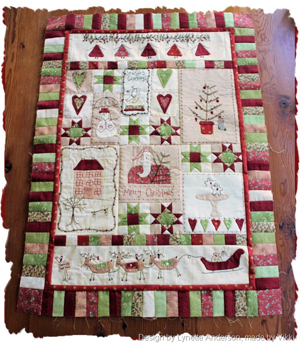 Christmas fun quilt top whole