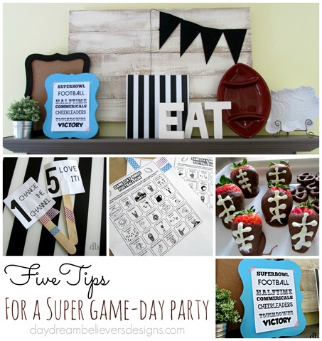 Five Tips for hosting a SUPER game day party