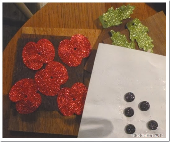 Glittered Poppies