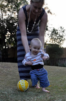 Playing soccer with Aunty Susan