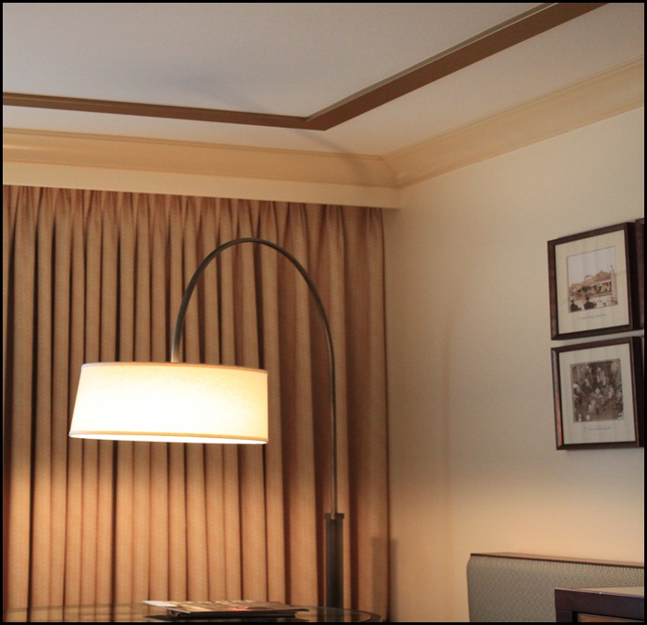 faux tray ceiling corner