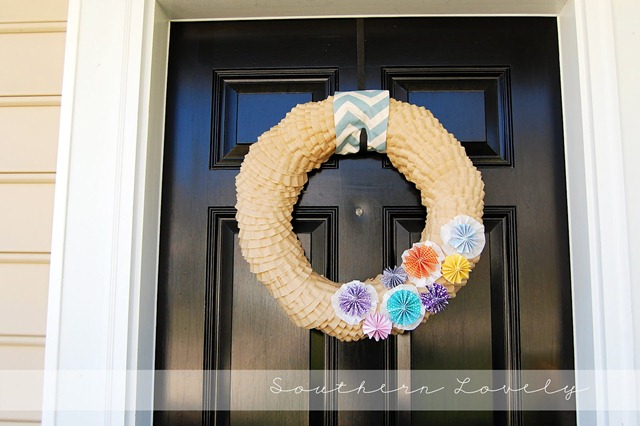 37 coffee filter wreath-6