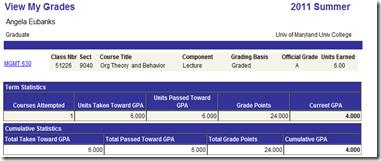 Grades summer 11