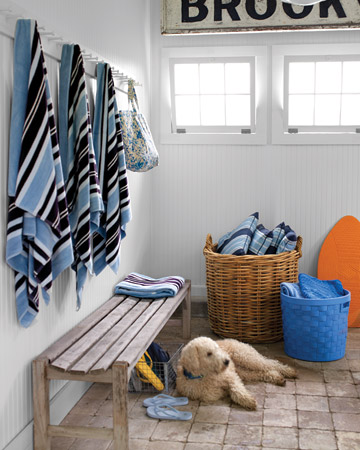 The cool tiles make a perfect resting spot. (Martha Stewart Living)