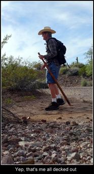 Me, hiking along