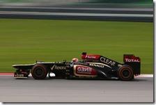 Raikkonen nelle qualifiche del gran premio della Malesia 2013