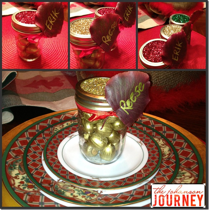 Johanson Journey Glitter top Acorn Name Jars