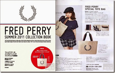 Fred Perry 2011 Summer Collection Book   Fred Perrry tote bag 02
