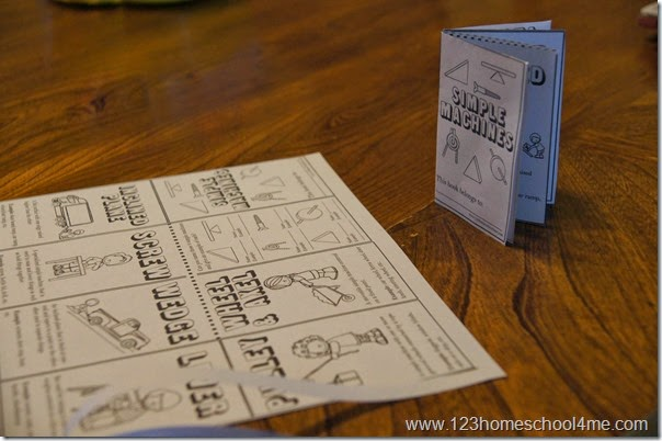 Simple Machines Mini Book for Homeschool Science Kindergarten-5th grade