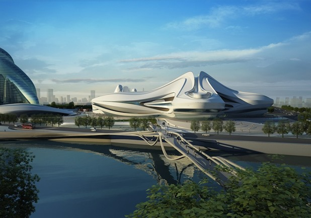 changsha meixihu international culture & art centre by zaha hadid architects 2