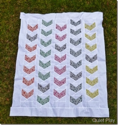 Paper Pieced Feathers Quilt