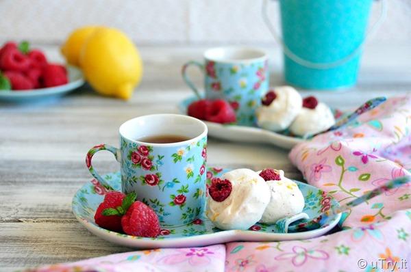 Lemon Raspberry Meringue Bubbles