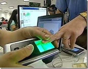 Cadastramento biometrico
