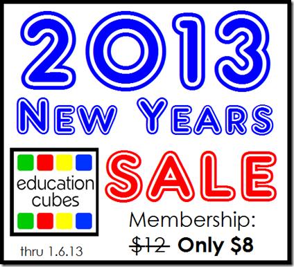 Education Cubes: 2013 New Years Membership Sale thru 1.6.13