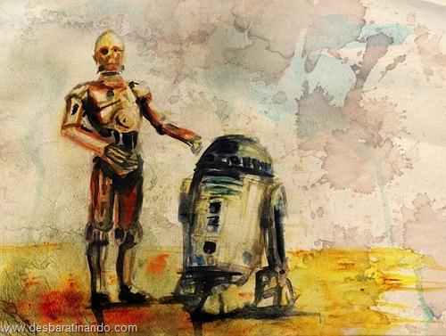 pinturas star wars aquarela desbaratinando  (2)
