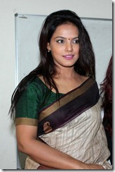 Beautiful Neetu Chandra Cute Saree Stills