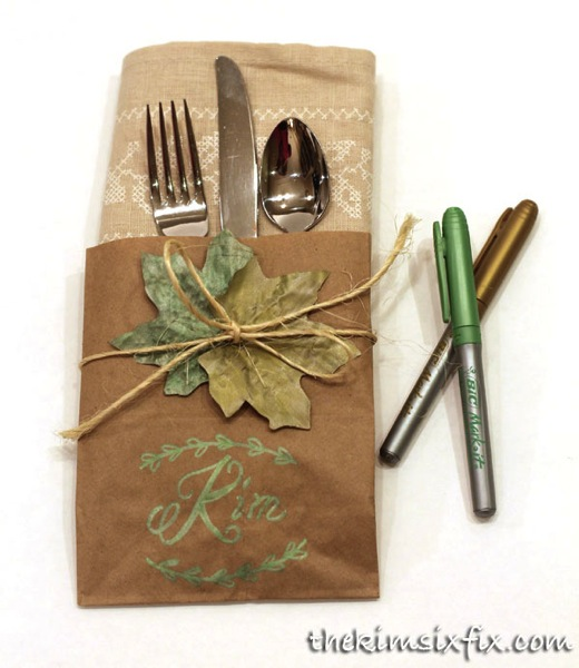 Fall napkin place card