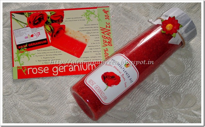 Soulflower Rose Gernaium Bath Salt Review