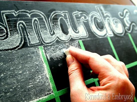 Chalkboard Calendar {Sawdust & Embryos}