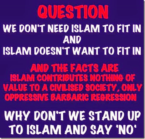 Stand up to Islam - Say NO