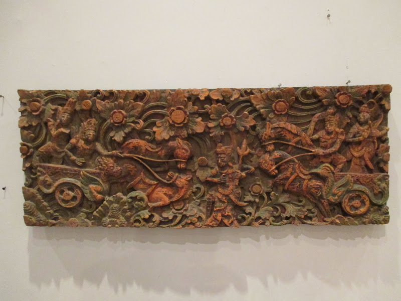 Thai Wood Panel Carving
