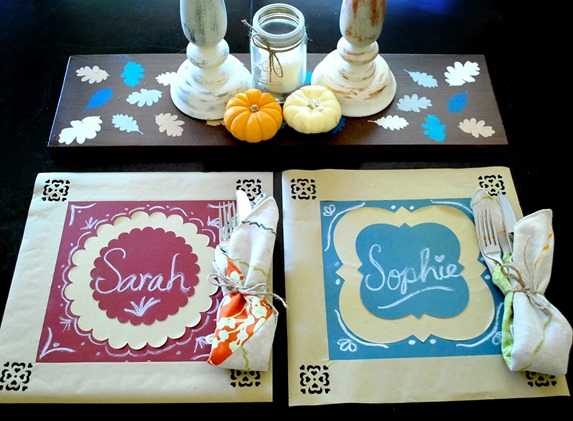 chalkboard and kraft paper placemats - the silly pearl