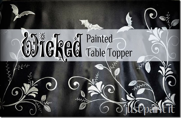 Wicked Painted Table Topper for Halloween