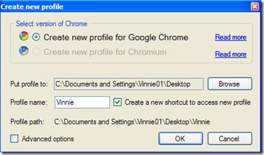 Google Chrome Backup creare un nuovo profilo