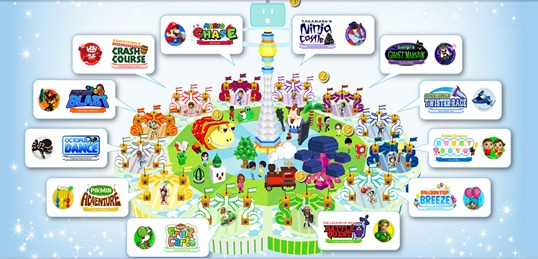 Nintendo Land Theme Park Map