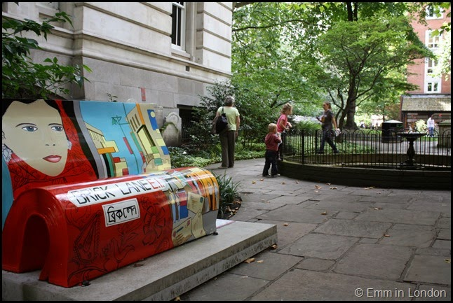 Brick Lane book bench