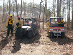 Squad A and B UTV crews getting ready to pump and roll