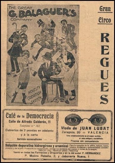 Circo Regües. 1916