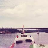 Kemena川下流の橋 / A bridge in the lower curse of Kemena River
