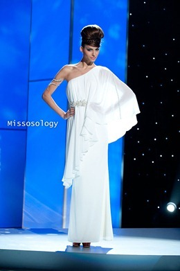 Miss Greece 2011, Iliana Papageorgiou pre-tapes in her National Costume onstage at Credicard Hall on September 7, 2011. She is preparing to compete in the 2011 MISS UNIVERSE® Competition on September 12 at 9:00 p.m. ET broadcast LIVE on NBC from Credicard Hall in São Paulo, Brazil. Vote your favorite contestant into the semifinals on http://missuniverse.com/members/contestants. HO/Miss Universe Organization, L.P. LLLP