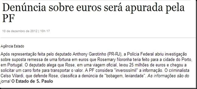 denuncia sobre euros