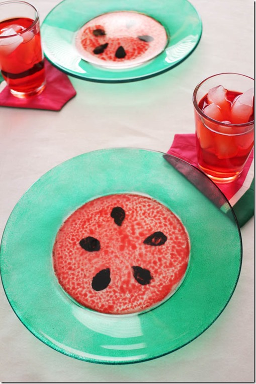 Watermelon week plates