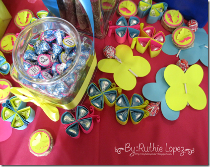 Bautizo - 1st Birthday Butterfly Themed - Butterfly Candy Bar - Baptism - Ruthie Lopez 8