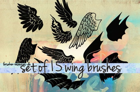Pinceles de alas delineadas