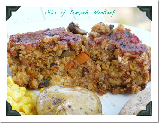 slice tempeh meatloaf
