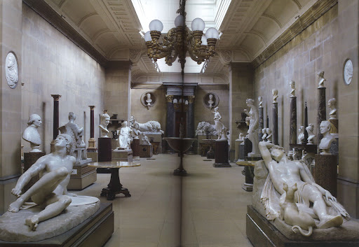 This incredible sculpture gallery is filled with neoclassical by sculptors like Casanova.