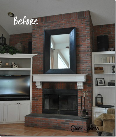 Gwen Moss Before And After My White Chalk Painted Fireplace