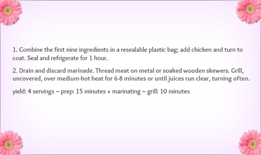 Chicken Recipe design