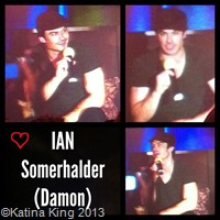 Ian Somerhalder at Vampire Diaries Convention by Katina King